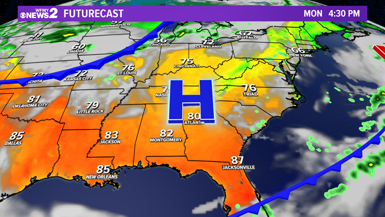 FORECAST: Drier & Warmer To Start The Week | wfmynews2 com