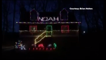 'Hope you can see this in heaven buddy,' family puts on light display in honor of Noah Chambers