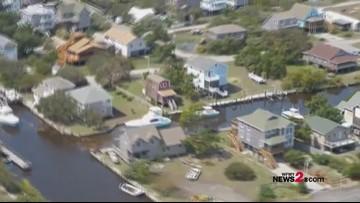 Aerials Over NC Coast Of Storm Damage From Hurricane Dorian