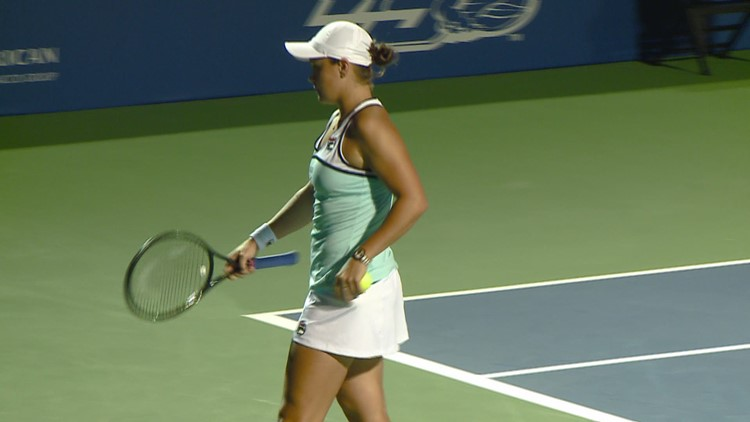 Coco Gauff vs. Ashleigh Barty Exhibition Match At Winston-Salem Open