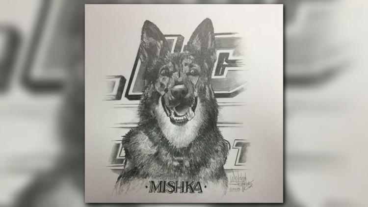 Portrait of Burlington Police K-9 Officer Mishka