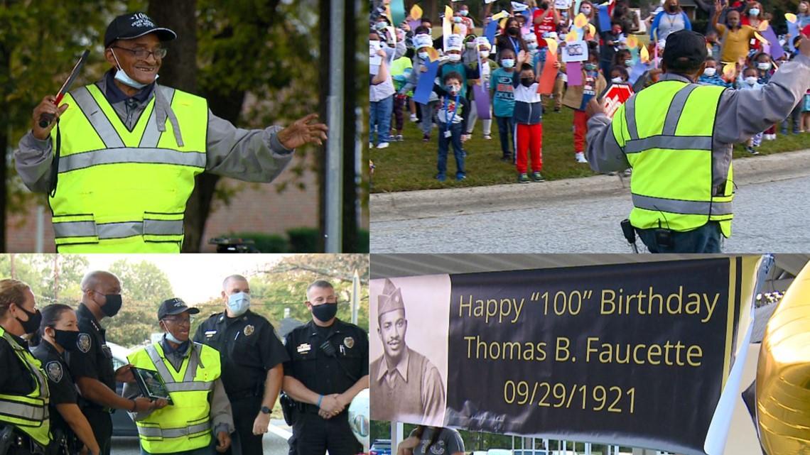 School crossing guard gets 100th birthday surprise!