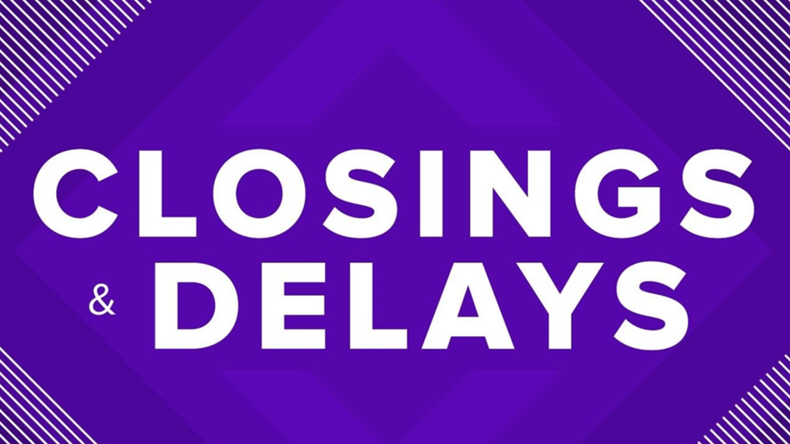 LIST | School Closings, Delays For Wednesday Due To Inclement Weather
