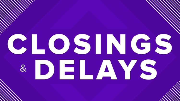 SCHOOL LIST | School closings and delays for Friday due to snow