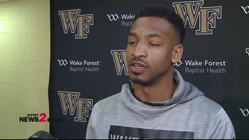 'Everybody came in and contributed what they needed to do': WFU's Andrien White after win over UNC