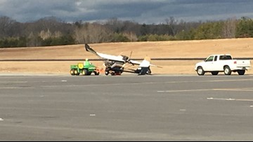 Minor Injury Reported After Small Plane Crashes at Airport in Rockingham Co.