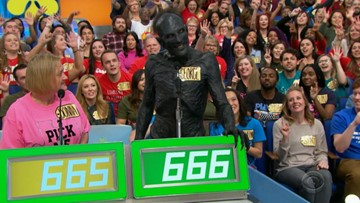 Why is there a demon on 'The Price is Right'?