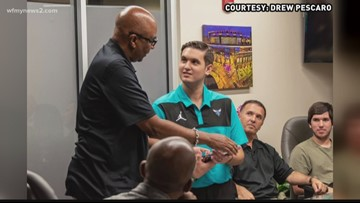 UNCC Shooting Victim Drew Pescaro Named Honorary Employee With Charlotte Hornets