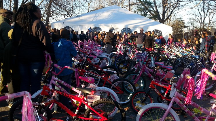 Burlington shelter giving out hundreds of bikes, toys, and free meals to families