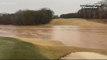 Flooded golf course in Rockingham Co.