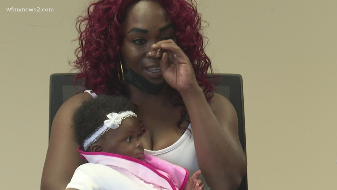 Greensboro mom shares story after her baby was taken at a gas station
