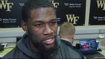 'We got to keep going, we can't settle on this':  WFU's Chaundee Brown postgame interview after win over UNC