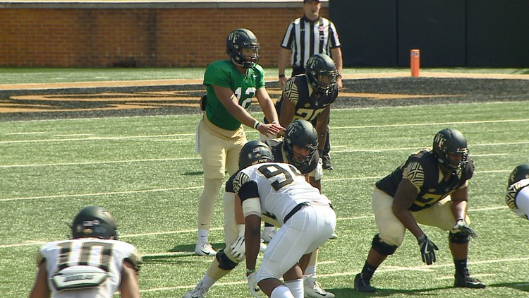 Offense wins Wake Forest Spring Game, 55-45