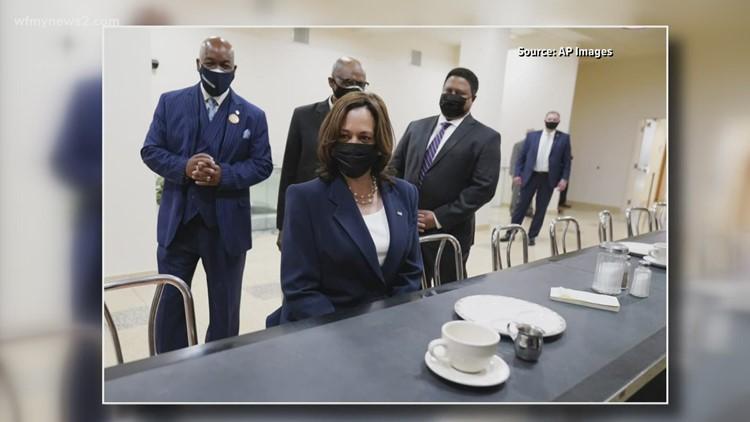 Vice President Kamala Harris makes historic visit to the International Civil Rights Center & Museum