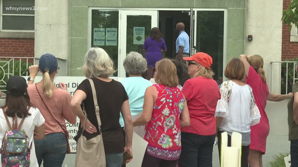Parents rally at Guilford County Schools board meeting
