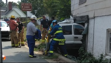 Jeep Crashes into Building off NC-62 in Alamance County