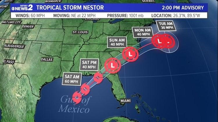 Tropical Storm Forecast Cone