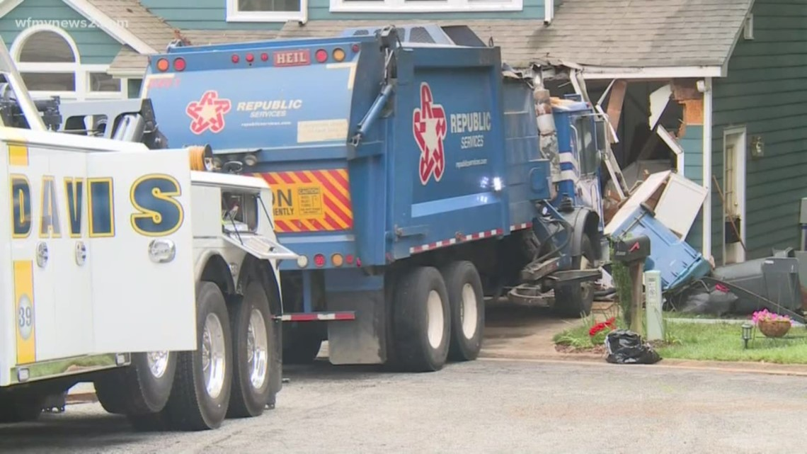 Garbage Truck Slammed Into A House Amp Destroys A Classic
