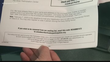 That voter registration mailer form is not from the government