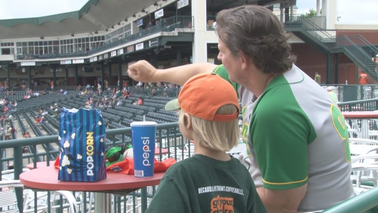 A father and son's bond at the ballpark