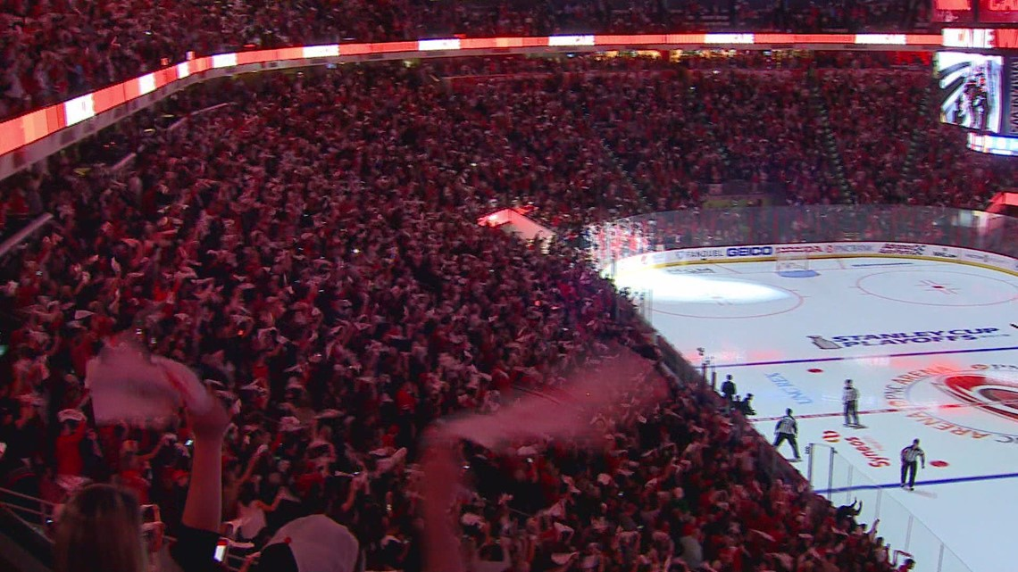 Carolina Hurricanes Fans Set Attendance Record at PNC Arena In Game 4 Against NY Islanders