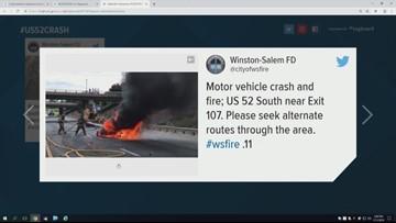 8 Car Pile Up Closes U.S. 52 In Winston-Salem
