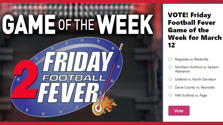 VOTE NOW | Friday Football Fever Game of the Week poll for March 12