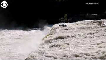 Scary! 6 Rescued After Raft Goes Over Waterfall In Pennsylvania