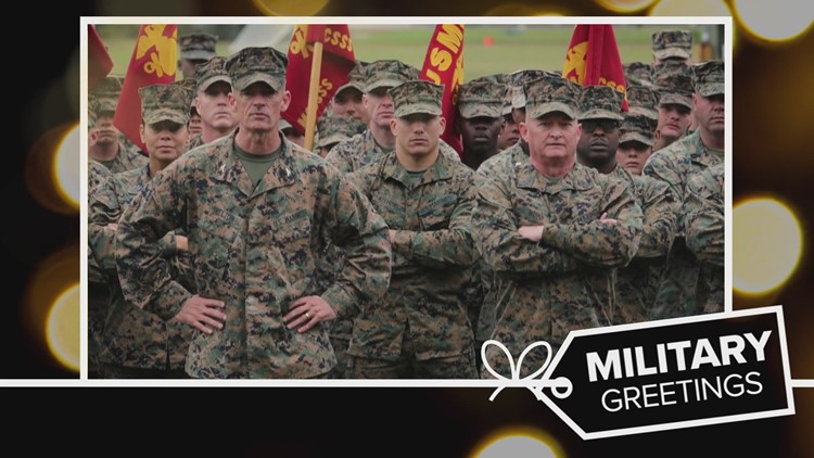 Military Greetings: Wising their families a very 'Merry Christmas'