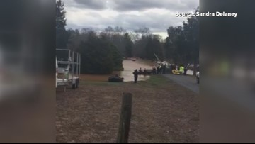 Campers rescued from flooding near Dan River in Rockingham County