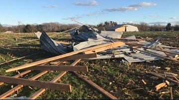 'Looks like somebody took a bomb and dropped it' | Tornado rips through neighborhood in Liberty