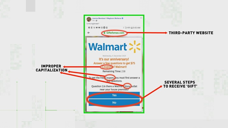 Signs of fake Walmart coupons