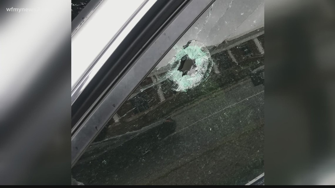 Multiple cars damaged after shots fired in High Point Palladium parking lot