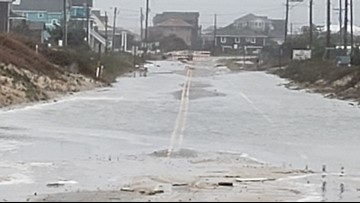NC Highway 12 on Outer Banks Remains Closed Due to Sand, Overwash from Nor'Easter