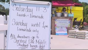 Girls Lemonade Stand helps raise money for school lunch debt
