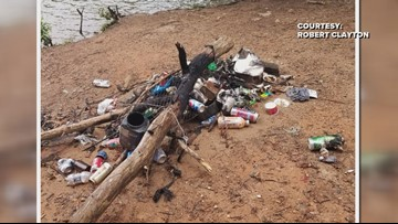 Trash Is Piling Up At Belews Lake And Neighbors Are Fed Up