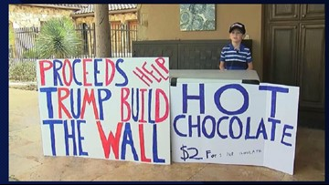 Boy Called 'Little Hitler' For Selling Hot Cocoa to Raise Money For Border Wall
