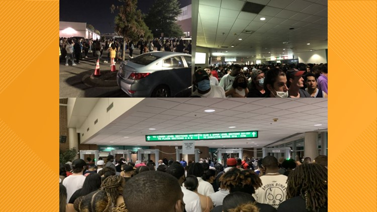 Frustration mounts as large crowds wait hours for J. Cole concert to start in Greensboro