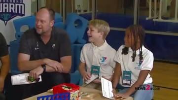 RAW: Kid Reporters Take Over Mic For Greensboro Swarm Media Day!