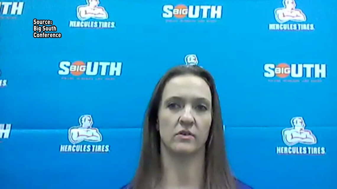 Postgame Interview With High Point Head Coach Chelsea Banbury after the Panthers won the Big South Title and spot in the NCAA Women's Tournament