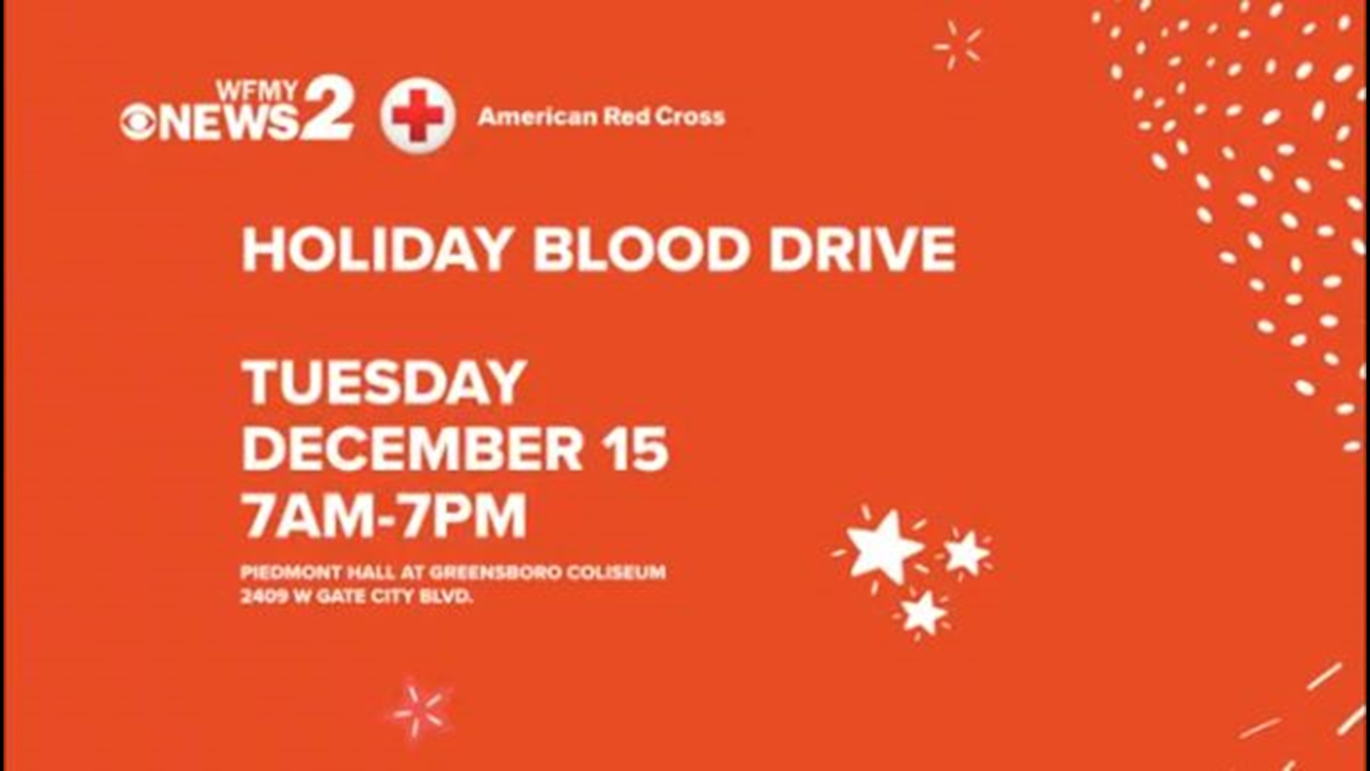 Wfmy News 2 Holiday Blood Drive On Tuesday Dec 15 Wfmynews2 Com