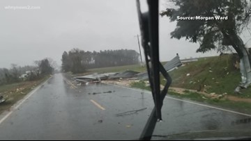 Trees, power lines strewn through the streets in Randolph Co.