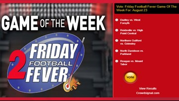 VOTE NOW | Friday Football Fever Game Of The Week For August 23