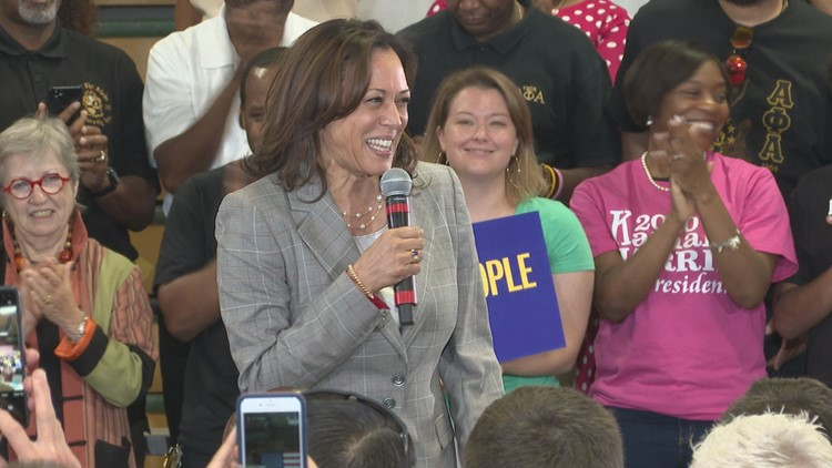 Kamala Harris Makes Her Pitch To Greensboro