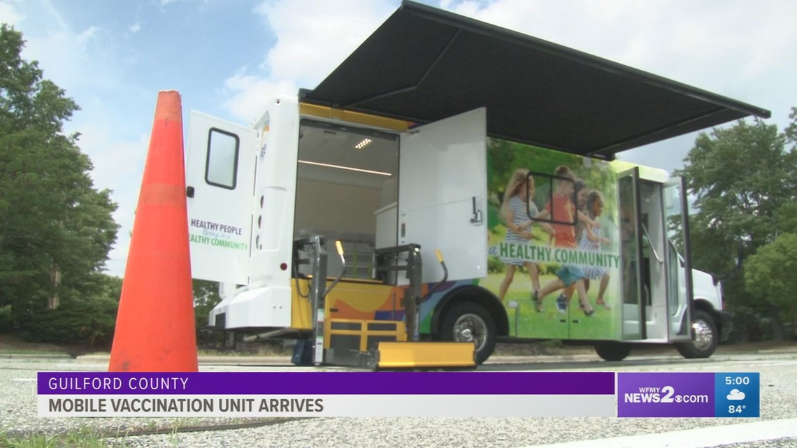 Guilford County's mobile vaccination unit arrives
