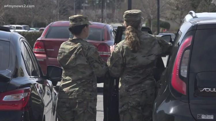 U.S. Air Force lands in Greensboro for FEMA COVID-19 clinic