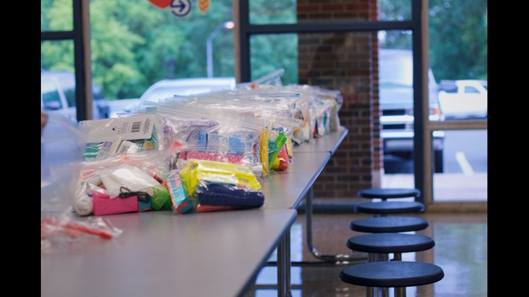 Asheboro teacher collects personal hygiene bags for students