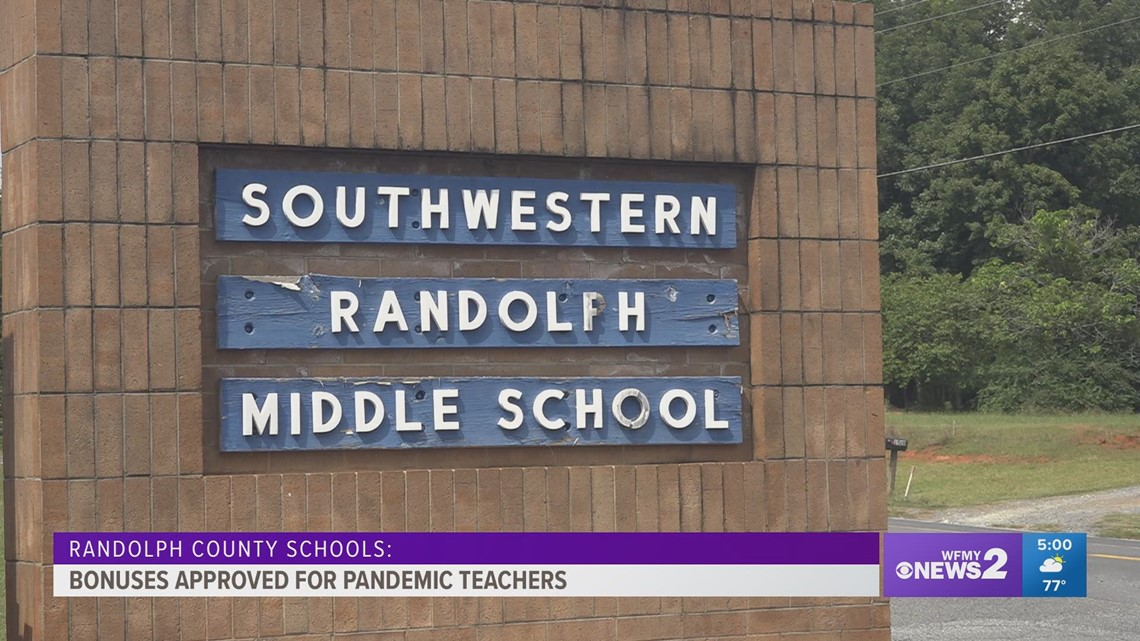 Randolph County Board of Education approves COVID-19 bonuses for staff