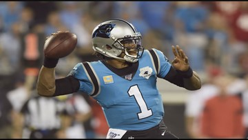 Cam Newton to sit out Sunday against the Cardinals with foot injury