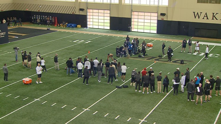 Wake Forest holds Football Pro Day
